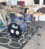 PEARL MASTERS MMX CUSTOM FULL KIT ZILDJIAN A + Z CUSTOM MINT